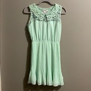 Mint green midi length dress